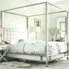 Modern Canopy Bed Wood Queen Metal Size – Fevcol