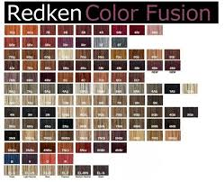 Redken Color Fusion Chart 2017 20 New Redken Color Fusion Color Chart