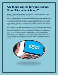 What Is Skype And Its Evolution By Sandeepsrivastava Issuu