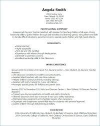 Childcare Resume Template Custom Childcare Resume Templates Best Of Daycare Sample Resume Template Free