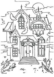 Haunted House Coloring Sheet Coloring Pages House Houses Coloring