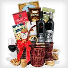 silver oak duo red wine gift basket authentic oak red wine