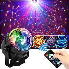 Đèn nháy theo nhạc led cầu hiệu ứng 7 màu siêu đẹp, đèn bay phòng cao cấp  cho phòng karaoke phòng ngủ có remote điều khiển từ xa tiện lợi, đèn nháy
