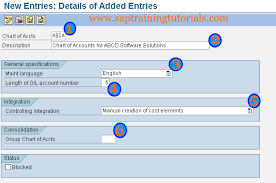 How To Create Chart Of Accounts In Sap Sap Tutorials