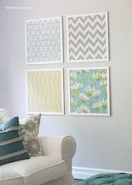 fabric wall art diy