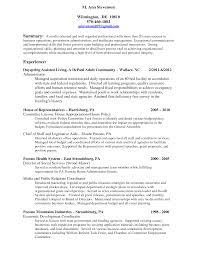 Non Profit Job Resume Sample