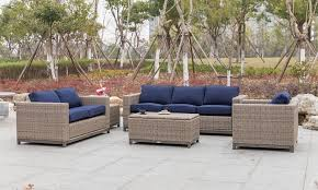 plank hide judd 5 piece outdoor living room set with sofa chair
