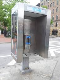 new york phone booths relatively modern phone booth enclosure starts about waist high standard square buttons
