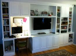 bedroom with tv and desk. Stunning Entertainment Center Desk Combination White Cabinets With Tv Placement Bedroom And O