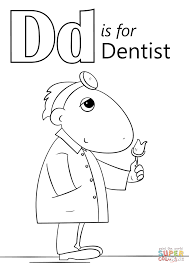 Small Picture Dental Coloring Page Throughout Dentist Coloring Pages Es
