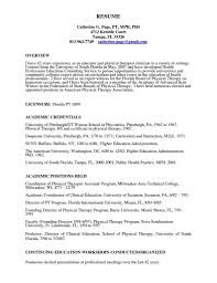 Physical Therapy Student Resume Gallery Of Physical Therapy Resume Examples 24 Therapist Massage 1