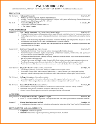 Resume Template For College Students Mortgage Specialist Sample Resume