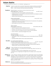 Interests Resume Resume Interests Program Format 9
