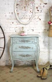 shabby chic nightstand. French Night Table Painted Cottage Chic Shabby Romantic Throughout Nightstand