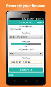 Resume Builder App Mesmerizing Resume Builder App For Android Professional Resumes Beni Algebra