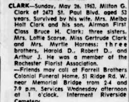 Obituary for Milton G. Clark - Newspapers.com