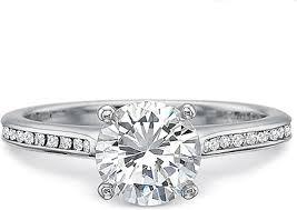 Precision Set Flush Fit Channel Set Diamond Engagement Ring 7234