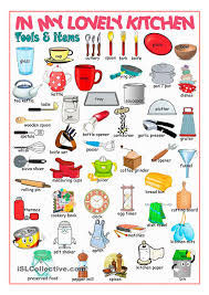 The List Of Names Of Kitchen Items In English