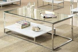 white glass top coffee table furniture of america gacelle contemporary glass top