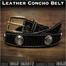 genuine leather concho belt biker belt pin buckle black wild hearts leather silver id lb3768t40