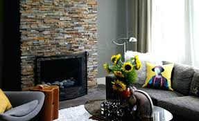 stacked stone fireplace natural stacked stone veneer fireplace in a living room made with stacked stone