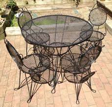 iron patio furniture ah wrought iron patio on garden furniture bringing the indoors out vintag