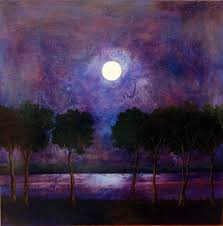 famous paintings of the moon night sky oil paintings