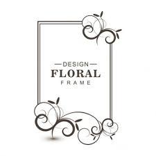 simple frame design. Contemporary Frame Simple Black Floral Frame In Frame Design