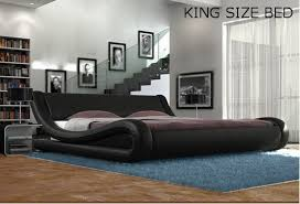 I need Black White Designer Double King Size Bed Frame and with Memory Foam  Mattress |