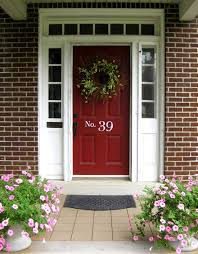 Red Painting Exterior Door Latest Decoration Ideas Wood Siding