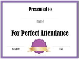 Free Printable Perfect Attendance Certificate Template New 48 Attendance Certificate Templates DOC PDF PSD Free