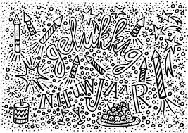 Gelukkig Nieuwjaar Oud En Nieuw For Kleurplaat Gelukkig Nieuwjaar
