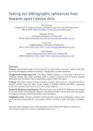 Pdf Setting Our Bibliographic References Free Towards Open
