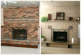 fireplace brick painting 3 ways for do it yourself old brick fireplace painting red brick fireplace paint ideas