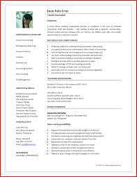 Free Resume Templates 2016 Inspirational Accountant Cv Word Format Mailing Format 93