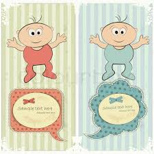baby postcard baby postcard in vintage style stock vector colourbox