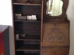 image of antique secretary desk with hutch drawers
