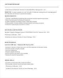 Technician Resume Template - 8+ Free Word, Pdf Documents Download ...