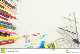 Stationery Tool On Graph Paper Stock Photo Image Of Paper