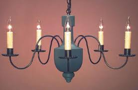 colonial painted wooden chandelier hammerworks model ch108