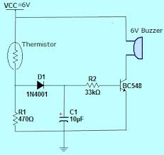thermistor working principle applications simple fire alarm circuit using thermistor