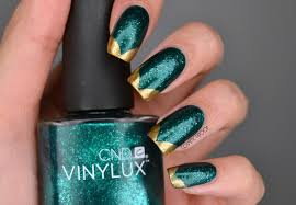 Shellac Emerald Lights Nails Green Day 4 Of The 31dc2016 With Cnd Vinylux