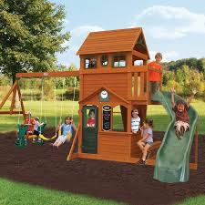Big Backyard Ashberry II Swing Set  WalmartcomBig Backyard Ashberry Wood Swing Set