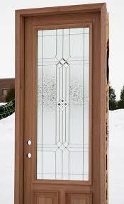 wood front doors with decorative glass regarding door windows ideas 13