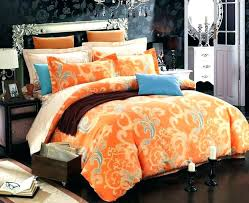 grey and orange bedding 1 of 9 cherry blossom cotton bedding sets in grey orange and white bed cotton comforter sets queen white bedding sets grey and