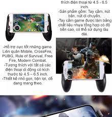 Combo tay cầm 5 trong 1 chơi game mobile Free Fire PUBG ROS làm mát máy  Phặn Phặn