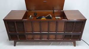 Cabinet Record Player Mid Century Modern Zenith Stereo Record Player Console Bluetooth 8