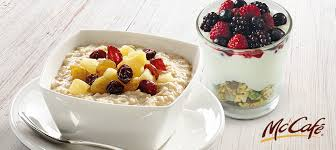 you can start your day with a bowl of wholesome oats from mccafé topped with apples cranberries and raisins available at the drive thru