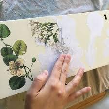 floral decoupage furniture. Amazing Image Transfer Makeover For An Old Dresser. Decoupage FurnitureRefurbished Floral Furniture E