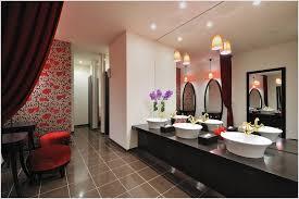sloped ceiling recessed lighting in bathroom